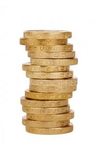 hög med kronor